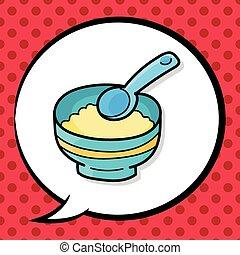 baby food doodle