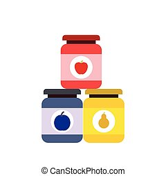 Baby food flat icon