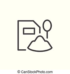Baby food line icon