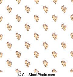 Baby footprints pattern seamless