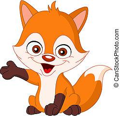Baby fox - Cute baby fox presenting
