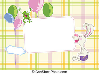 Baby frame background
