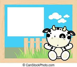 baby, frame, koe
