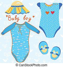 Baby garments set for boy cartoon