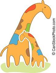 baby giraffe in cute style vector illustration