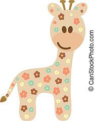 Baby giraffe like a cute style