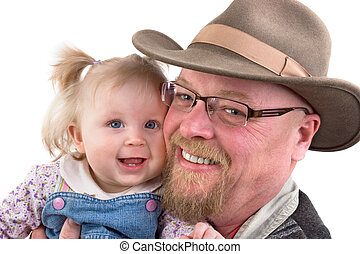 Baby Girl and Grandfather