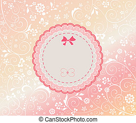 Baby girl arrival card