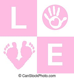 Baby girl baby hand and feet prints