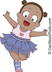 Baby Girl Ballerina Costume - Illustration of a Smiling Baby...