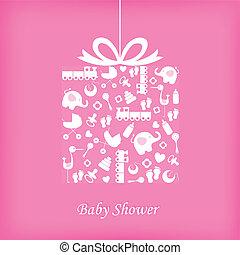 Baby girl birth card