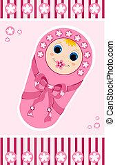 Baby girl card 1.