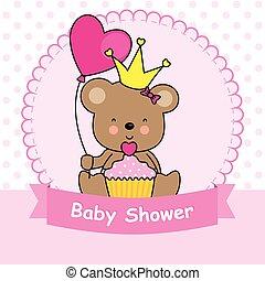 bear with cupcake