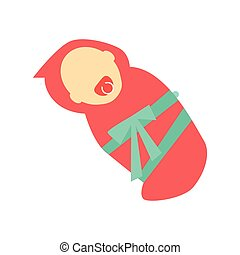 Baby Girl Character Template Vector Illustration.