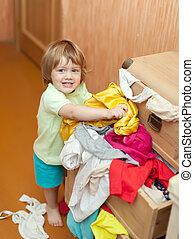 Baby girl chooses dress