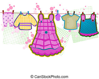 Baby Girl Clothes with Clipping Path
