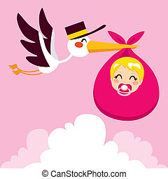 Baby Girl Delivery Stork