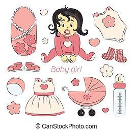 Baby girl design elements