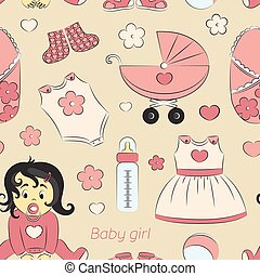 Baby girl design pattern