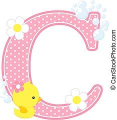 baby girl duck initial c