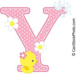 baby girl duck initial y