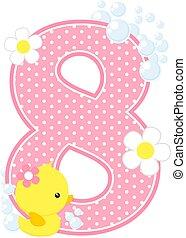 baby girl duck number 8