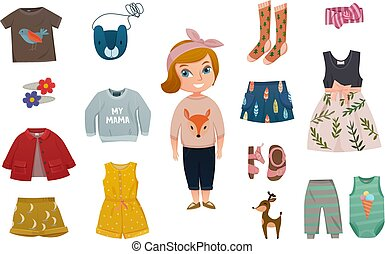 Baby Girl Fashion Icon Set