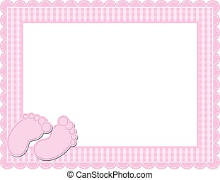 Baby Girl Gingham Frame