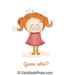Baby Girl Illustration - for Baby Shower Invitation, ...