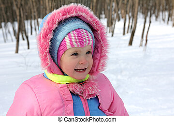 baby girl in winter park