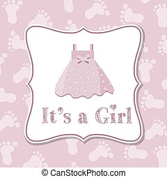 Baby girl invitation for baby shower - Baby girl invitation...