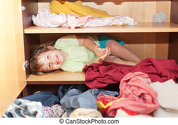 Baby girl is in the closet - Baby girl is in the closet at...