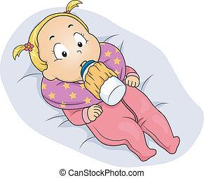 Baby Girl Milk Bottle Holder