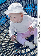 Baby girl on the playground