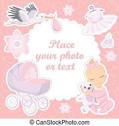 Baby girl photo album cover