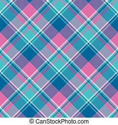 Baby girl pink pastel color plaid seamless pattern