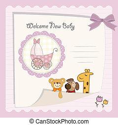 baby girl shower card