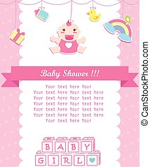 baby girl shower care with place for your text
