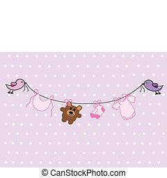 Baby Girl Shower - Cute pink and purple baby girl shower...