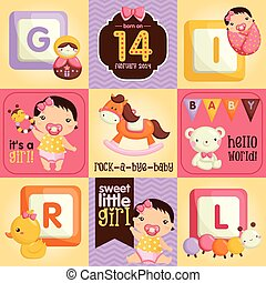 Baby Girl Square