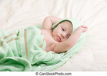 Baby Girl Streching