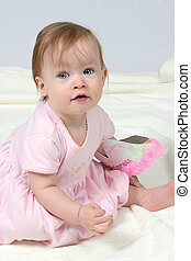 Baby Girl With Pink Dress