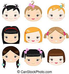 Baby girls - Happy baby girl's faces
