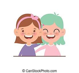 baby girls smiling on white background