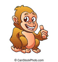 baby gorilla cartoon illustration