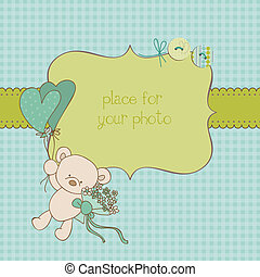 Baby Greeting Card with Photo Frame and place for your text ...