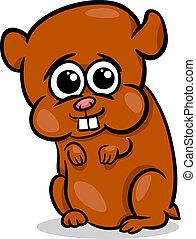 baby hamster cartoon illustration
