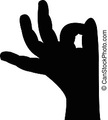 baby hand silhouette