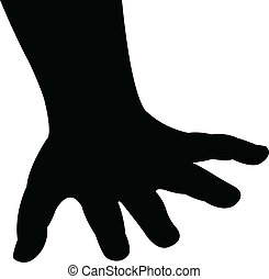 baby hand silhouette vector