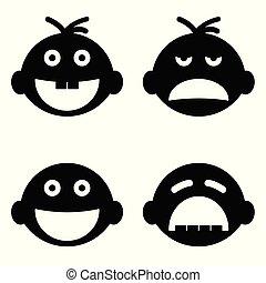 baby head set illustration